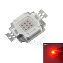 10pcs 10W RED Light Integrated High power LED Red 620-625nm 900mA 6.0-7.0V 300-400LM 32*32mil EPILEDS Chip Free shipping купить недорого в Москве