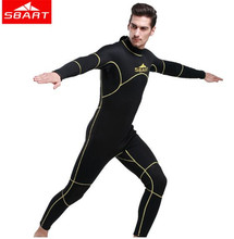 цена на SBART 3MM Neoprene One Piece Wetsuit Men Spearfishing Swimsuit Swimming Surfing Diving Equipment Suits Spear Fishing