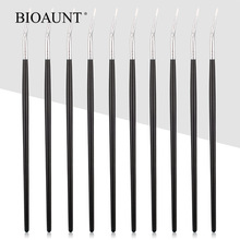 BIOAUNT 1pc Professional Eyeliner Makeup Brushes High Quality Bending Brush Curved Beauty Cosmetic Tools for Beginners