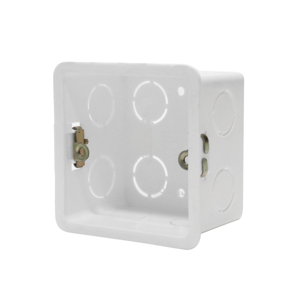 10pcs/lot 86 Cassette Wall Plate Box For 86 Type Wall Plate Switch And Socket Stair Step Light Lamp Lighting Mounting Box