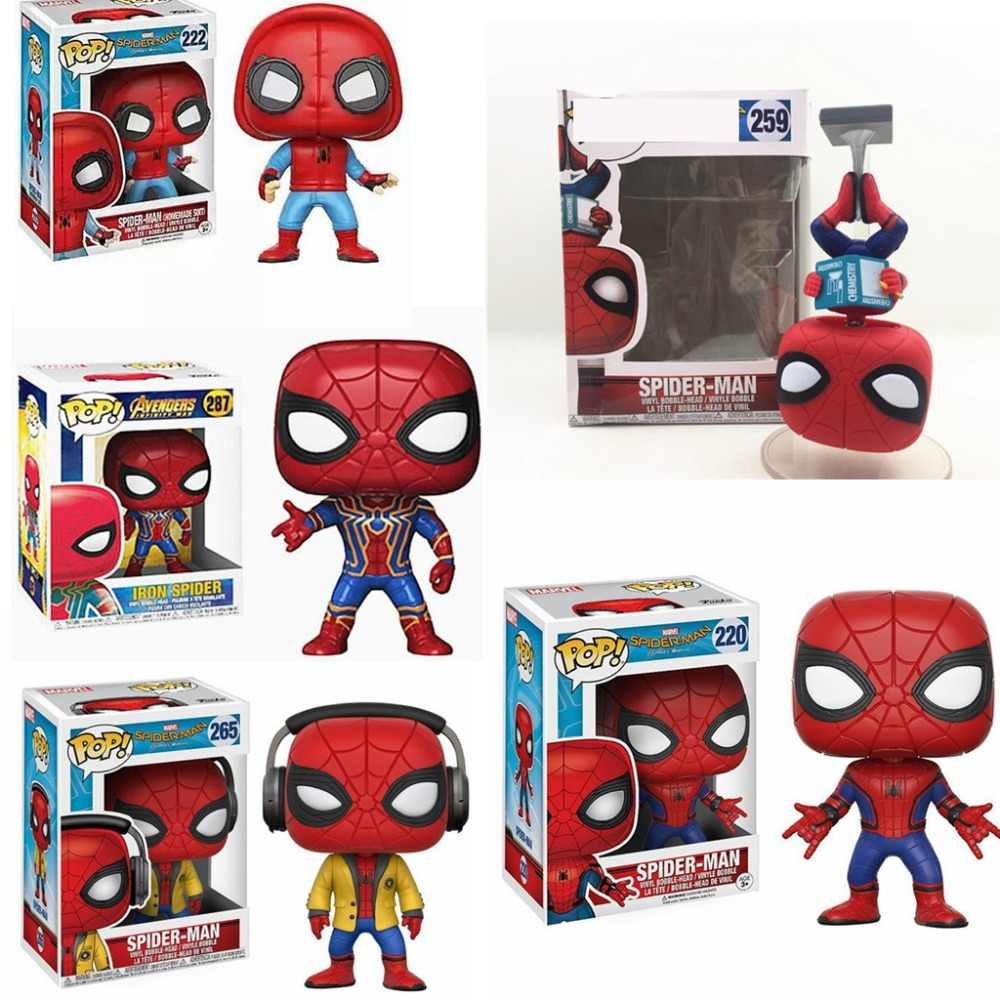 POP The Marvel Avengers3: Infinity War Spider-Man: Homecoming PVC Action Figure Collected toys for Children