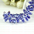 Sale Price!100pcs 6mm x 12mm Royal Blue AB Plating Briolette Pendants Waterdrop Crystal Glass Jewelry Loose Teardrop Beads DIY