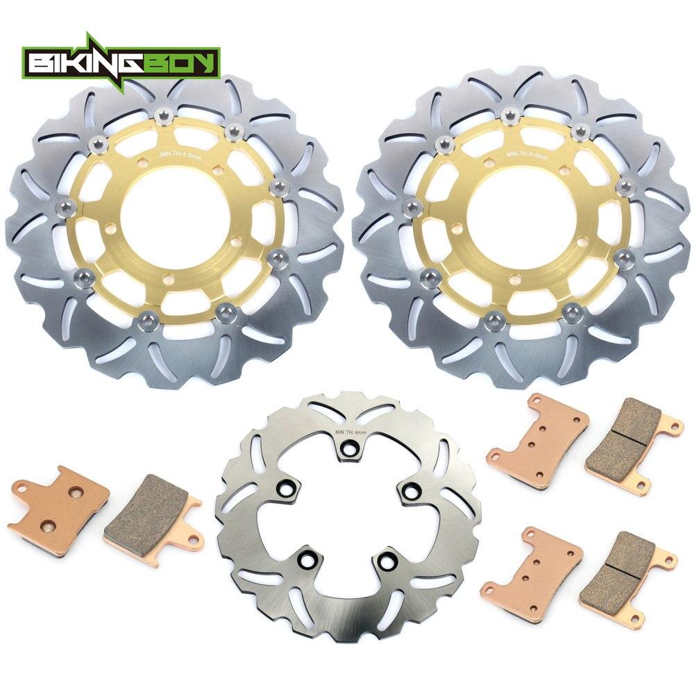BIKINGBOY Front Brake Disks Discs Rotors Pads For Suzuki