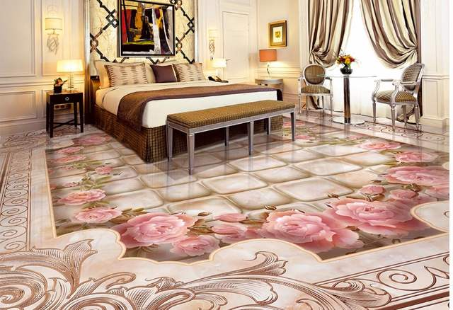 Online Flooring Marble Waterjet Parquet Floor Tile Wallpaper For Bathroom Waterproof Painting Aliexpress Mobile