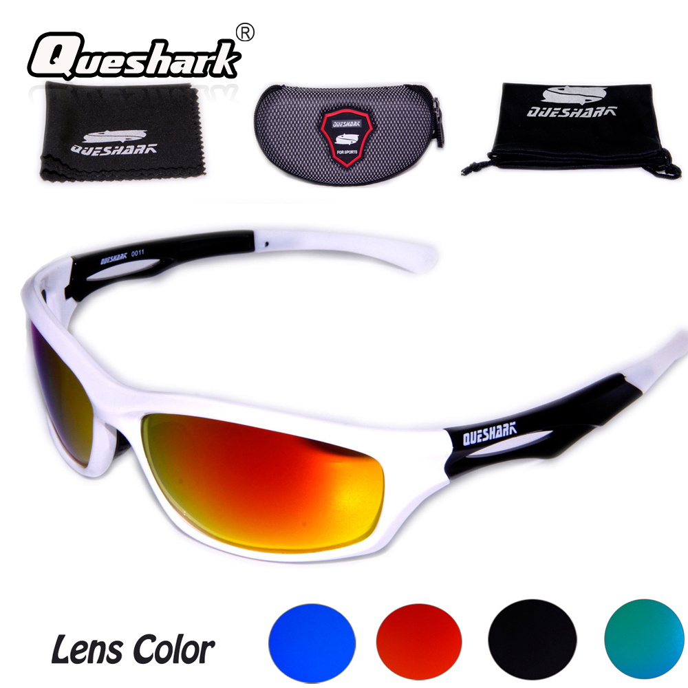 Brand Queshark QE11 Cycling Sunglasses Bike Glasses Polarized UV Protection For Fishing Outdoor 13 Colors Men Women
