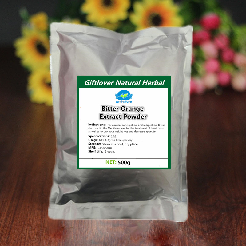 Фото 500g Pure Bitter Orange Extract Powder with Synephrine,Promote Weight Loss and Decrease Appetite,Nausea,Constipation,Indigestion