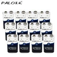 12Pcs PALO New 9 v batteries 6F22 9V Batteries NI MH Rechargeable Battery 9 Volt Battery for Toys DV Digital Camera