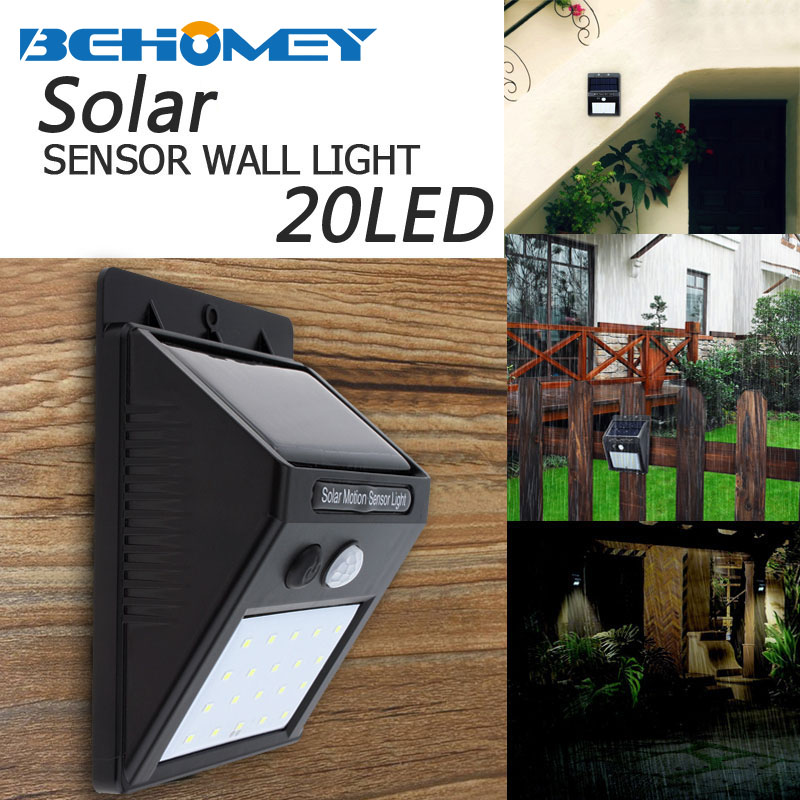 Security & Protection 20led Waterproof Abs Solar Powered Motion Sensor Lamp Outdoor Garden Fence Landscape Lamp Stair Yard Light Wall Lamp