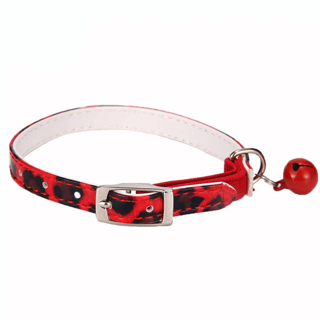 Breakaway Cat Collars with Bell for Cats PU Leather Pet Supplies for Small and Lager Cats Puppy Collar for Chihuahua jw0042
