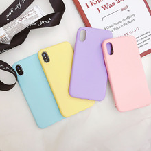 Matte Phone Case For iPhone 7 Plus 6 6s 8 X 5 5s SE XR XS MAX Simple Solid Color Ultrathin Soft TPU Cases Candy Color Back Cover simple cartoon anime puppy phone case for iphone xs max xr 6 6s 7 8 plus candy soft tpu back cover puppy wireless earphone case