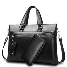 โปรโมชั่นใหม่กระเป๋าแฟชั่นผู้ชายกระเป๋าเอกสาร PU หนังผู้ชายกระเป๋าแบรนด์ชาย Briefcases กระเป๋าถือขายส่งคุณภาพสูง