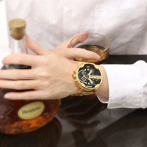 Image 2 - Relogio Masculino Cagarny תאריך אוטומטי שעון יד צבאי אנלוגי מותג Casaul Mens קוורץ שעונים להקת זהב שעונים גברים שעון D6280Z