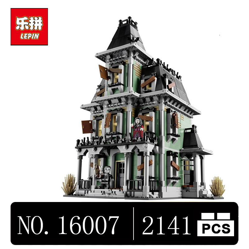 DHL LEPIN 16007 2141Pcs Monster fighter The haunted house Model set Building Kits Model Compatible With 10228 lepin 16007 2141pcs monster fighter the haunted house model set building kits model compatible with 10228 educational toys gifts