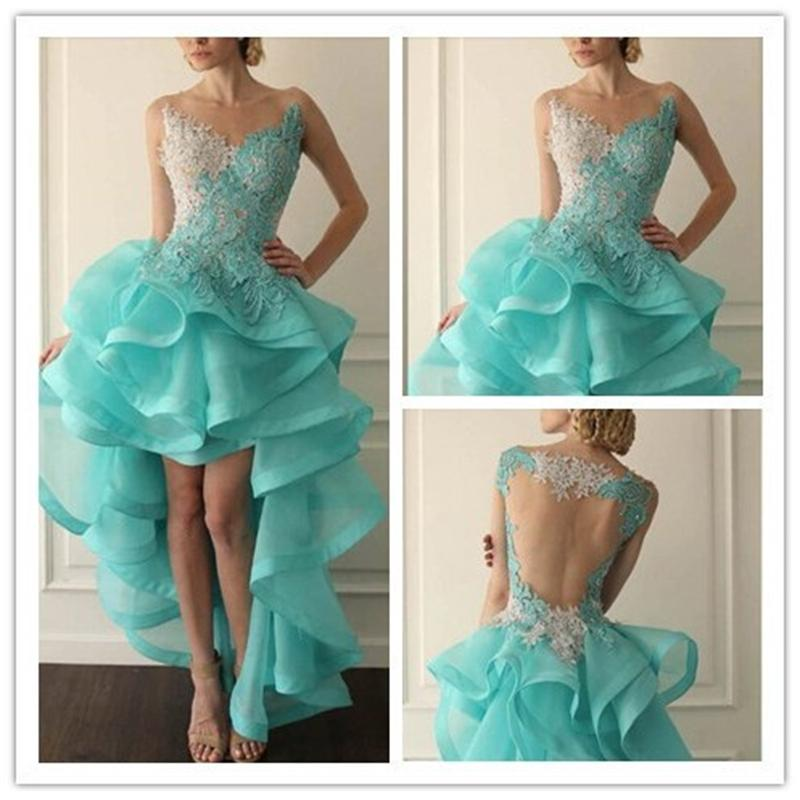 Mint green plus size prom dresses