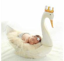 Реквизит для фотосъемки новорожденных bebe милый белый лебедь