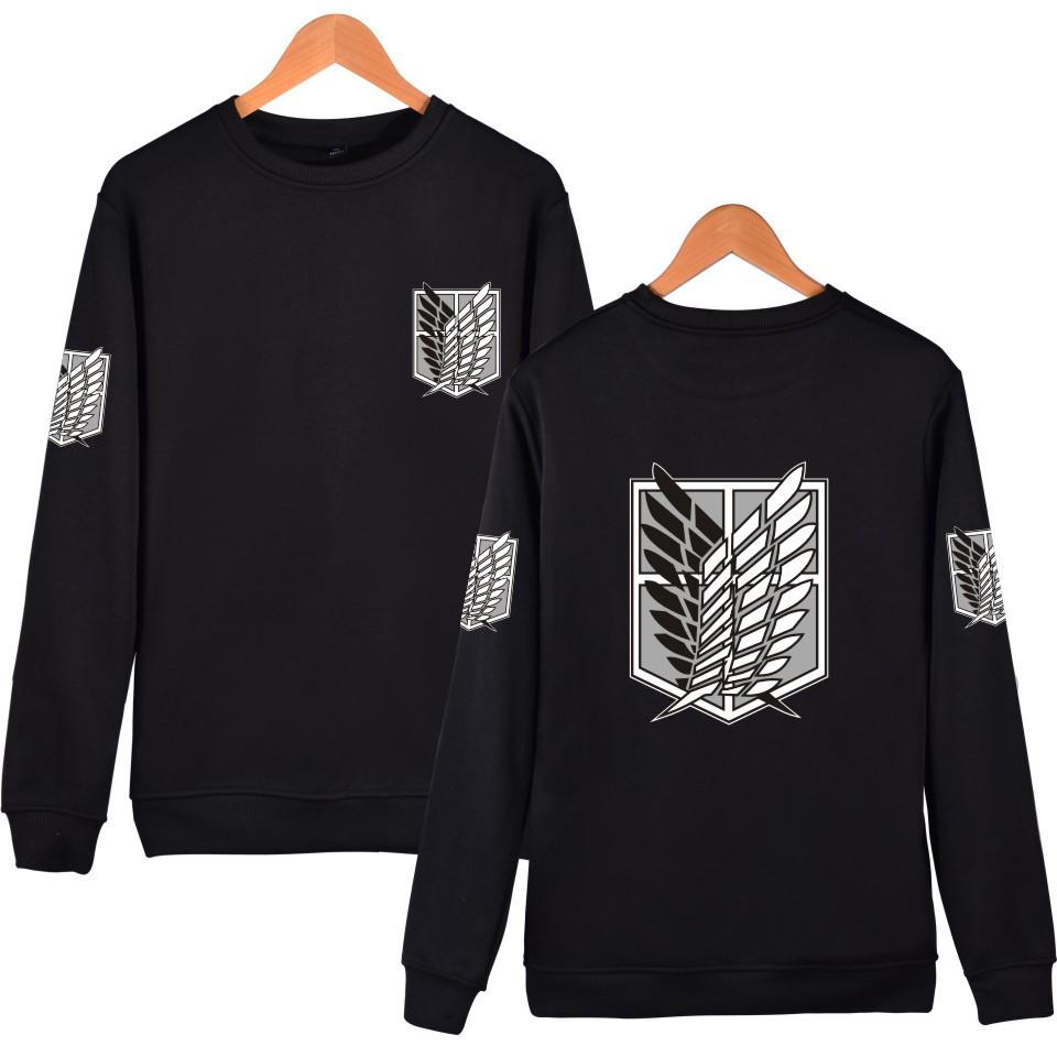Attack On Titan black Sweatshirts