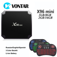 VONTAR X96mini Android 7 1 TV BOX 2G 16G Amlogic S905W Quad Core Suppot 2 4GHz