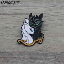 L3398 How to Train Your Dragon Metal Enamel Pin for Backpack/Bag/Jeans Clothes Badge Lapel Pin Brooch Jewelry 1pcs l3401 yin yang wolf viking rune metal enamel pin for backpack bag jeans clothes badge lapel pin brooch jewelry 1pcs