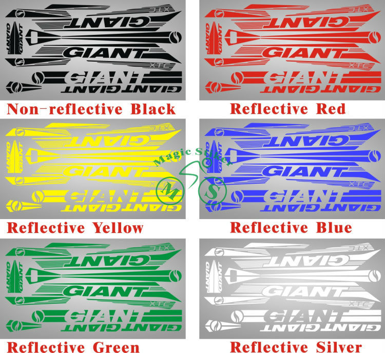 Giant xtc bicycle cycling stickers frame reflective pure hand carving decal cycling accessories in bicycle stickers from sports entertainment on