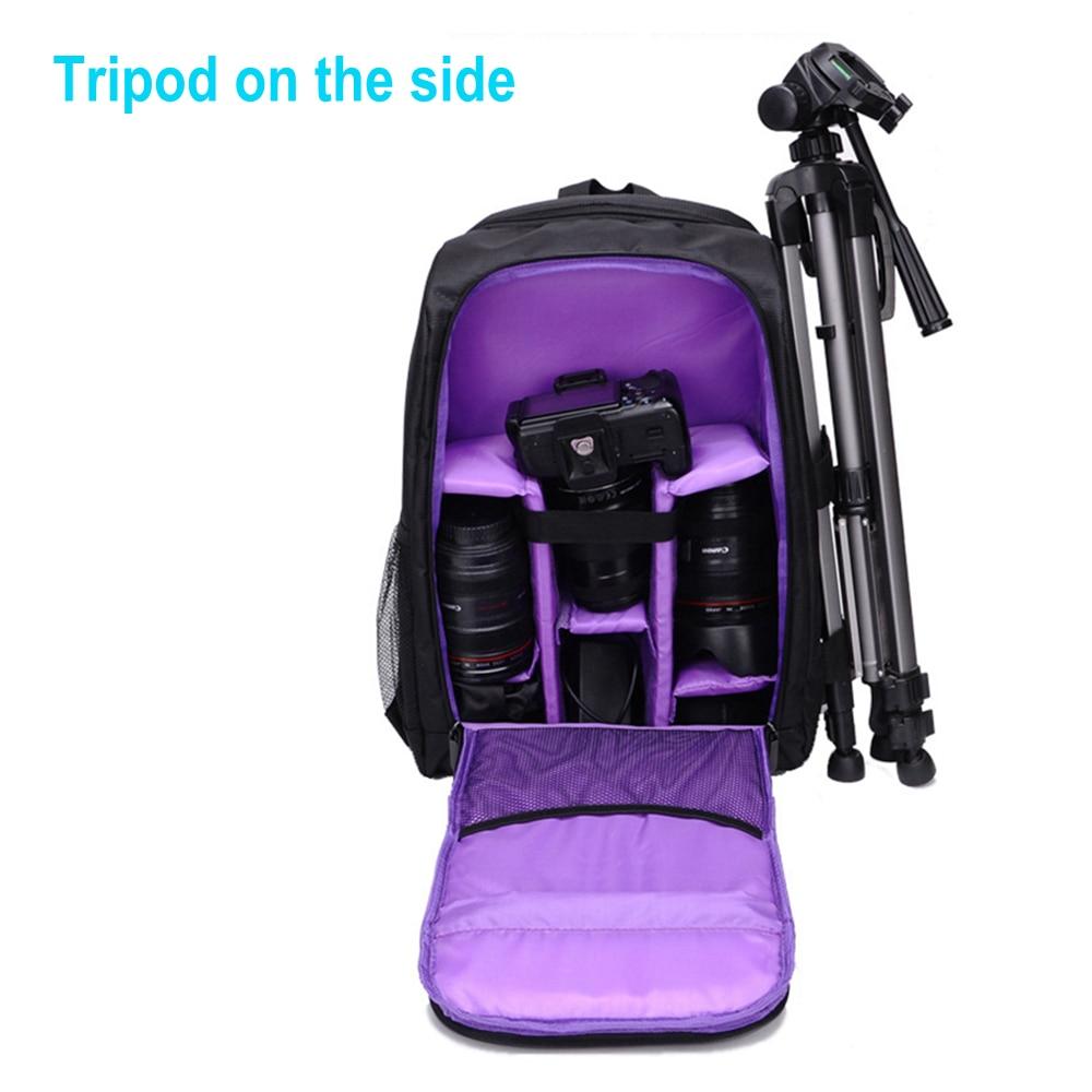 High Grade Waterproof Digital DSLR Camera Video Bag for SLR DSLR Cameras w/ Rain Cover Cam Backpack Suitcase Travel School Bags