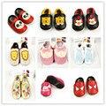 Atacado New bonito Dos Desenhos Animados Do Bebê de Couro Genuíno mocassins meninas Primeiro Caminhantes sapatos de cores Misturadas Do Bebê Animal Da Criança Bebe Sapatos
