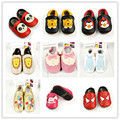 wholesale New cute Genuine Leather Cartoon Baby moccasins girls First Walkers Baby shoes Mixed colors Animal Toddler Bebe Shoes