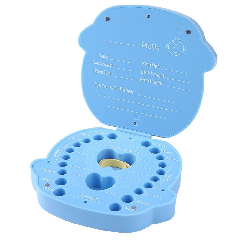 Baby Plastic Deciduous Tooth Box Souvenir Creative Baby Tooth Organizer Box PNLO
