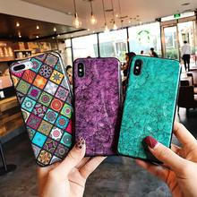 Glitter Marble Case For iPhone 7 8 6 6S Plus X XR XS MAX Soft Silicone Print TPU Shell Pattern Back Cover Phone Cases Coque цена и фото