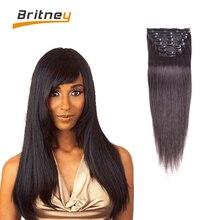 Brazilian Virgin Hair Clip in Extension Full Head Clip in Human Hair Double Weft Clip in Hair Extensions for Black Women #4