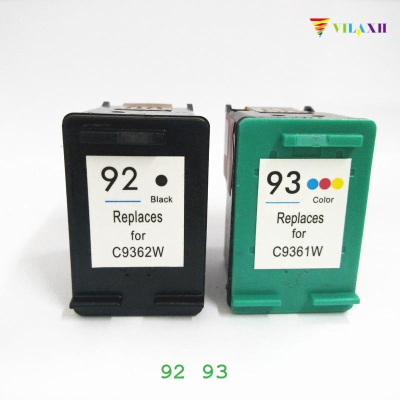 vilaxh 92 93 Reemplazo del cartucho de tinta compatible para HP 92 93 para la impresora Photosmart C3180 C3100 Deskjet 5440 C3175 PSC 1510