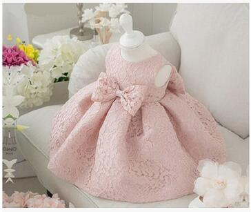 Vintage   Flower     Girls     Dresses   Children Party Ceremonies Clothing Princess Baby   Girl   Wedding   Dress   Birthday Big Bow Christening