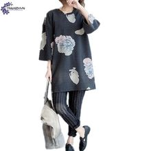 TNLNZHYN Summer Women's clothing T-shirt fashion loose large size casual Middle-aged and old  fat MM female Tops T-shirt TT374