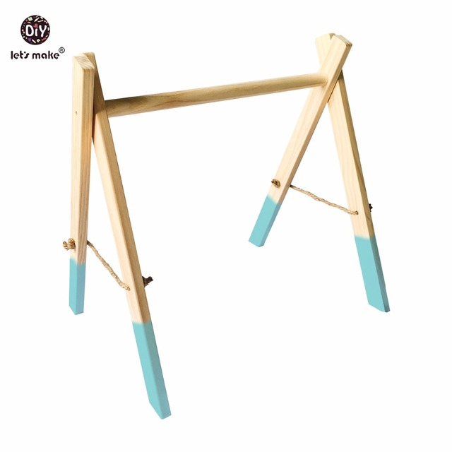 Let's Make 1set Play Gym Accessories Fitness Stand Organic Montessori Teething Toys New Year Gift For Baby Teether Waldorf Toy