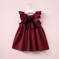 Baby Girls Dresses Infant Princess Dresses For Girl With Bow Cute Backless Children Clothing Fashion Child