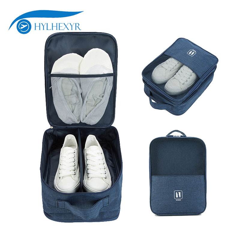 Hylhexyr Portable Shoes Bag Waterproof Polyester Unisex Tote Net Pouch Holiday Travel Organizer Shoe Packing For Underware Socks