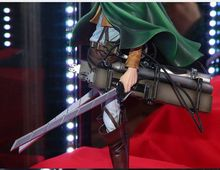 original banpresto MSP shingeki no kyojin attack on titan Figurine Levi figure with weapon toy doll model juguete 23cm