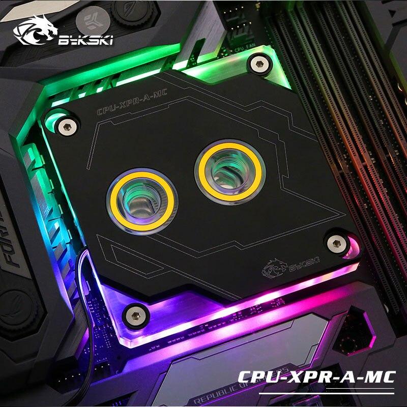 Bykski bloque de agua de la CPU de INTEL LGA1150 1151, 1155, 1156, 2011, 2066X99 I7 RGB luz de apoyo 5 V 3PIN GND cabecera placa base