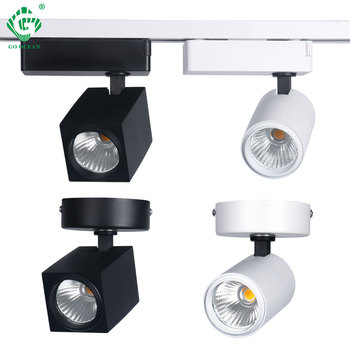 LED Track Light Spot Rail Lights 12W CREE Ceiling Clothing Shop Store Windows Spotlights Lighting COB Square Rail Lamps Fixtures