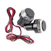2 PCS CNC Motorcycle Amber LED Handle Bar End Indicator Grip Plug Turn Signal Light FOR 22mm Handlebar 1