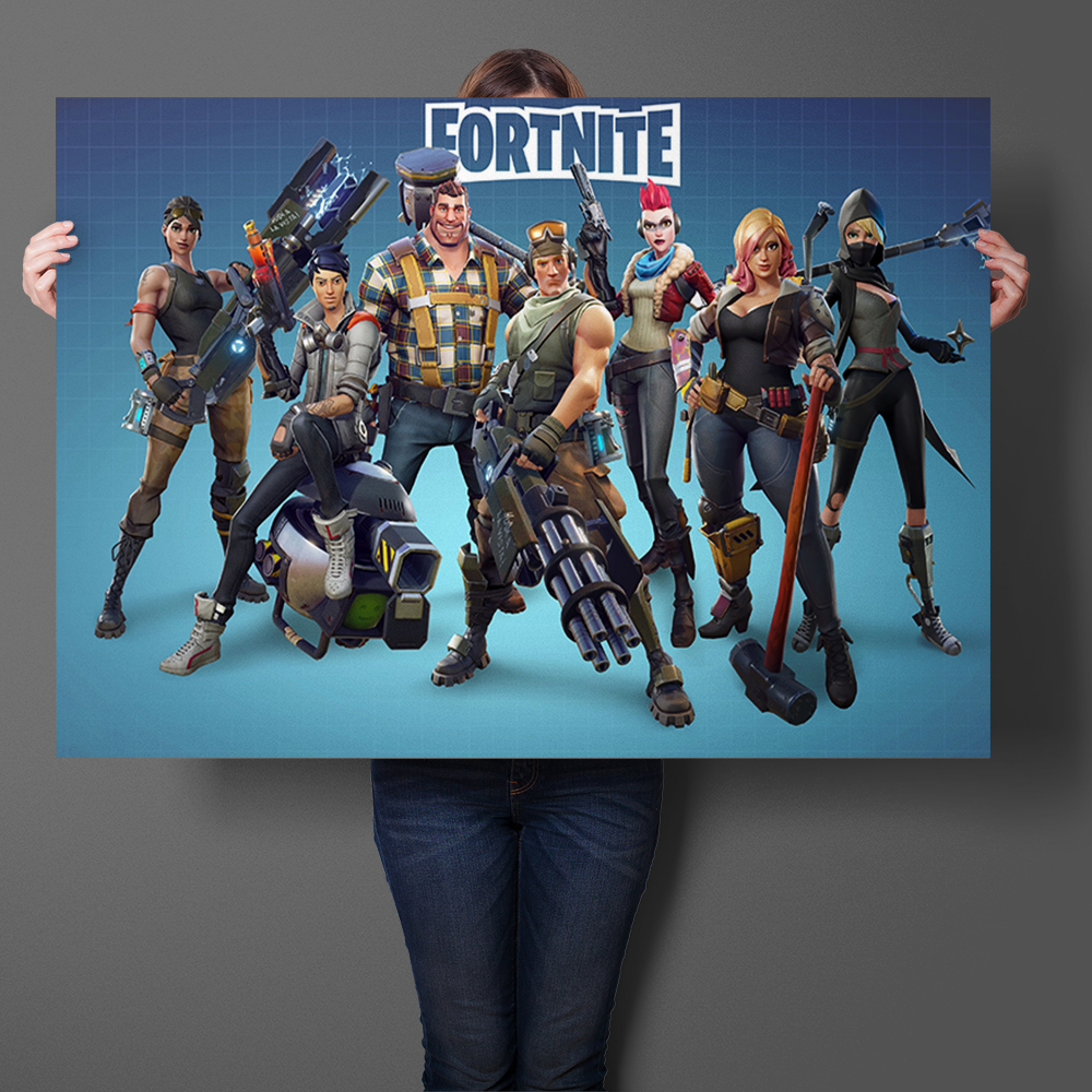 Fortnite Hot Game Art Prints Silk Fabric Poster And Print Wall Art Picture Painting Home Decor Sticker for Living Room