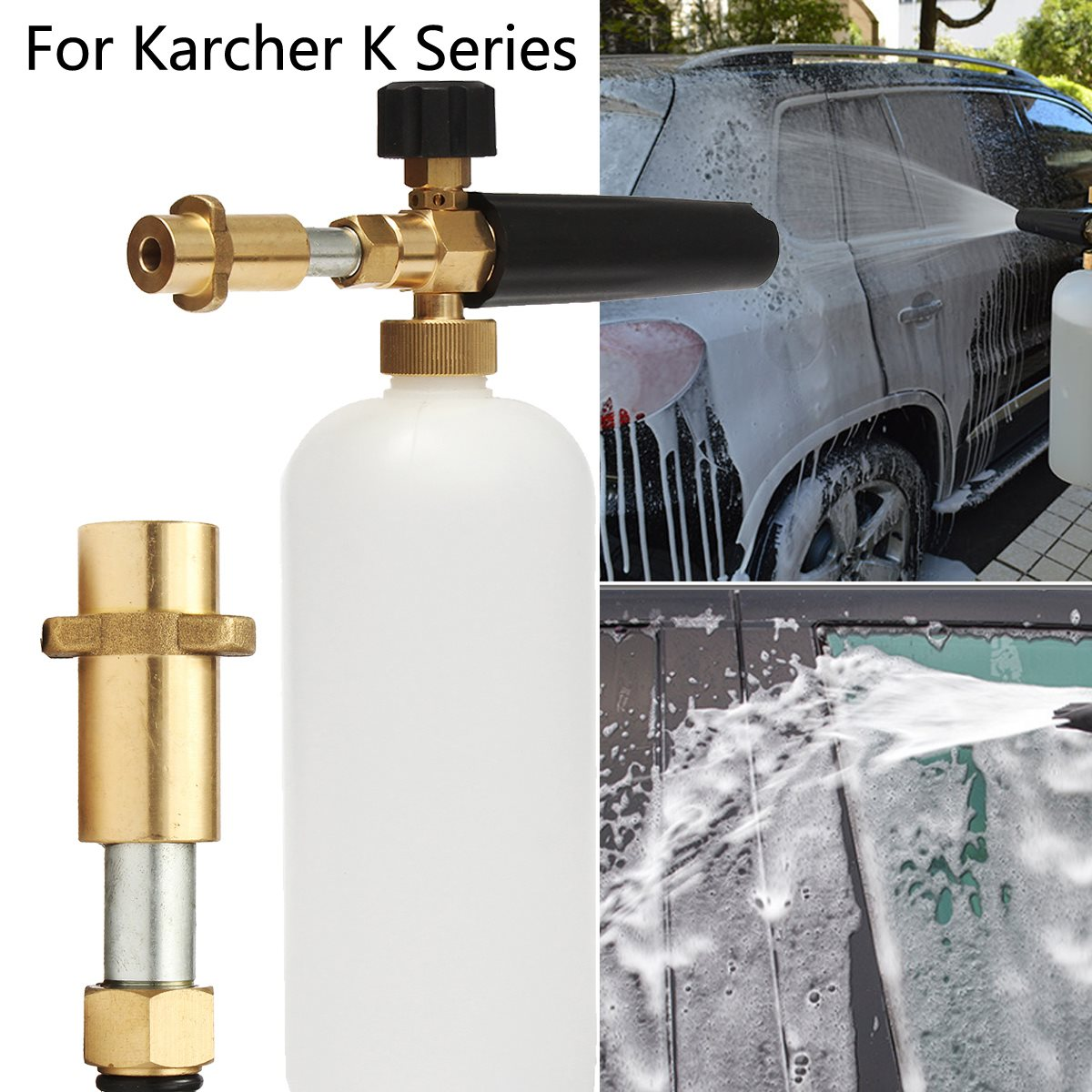 Pressure Sprayer Car Washer Compatible Foam Bottle For Karcher K Series