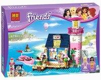 Bela 10540 Friends Heartlake Lighthouse Model Building Kits Blocks Bricks Compatible Toys For Children 478Pcs Gift