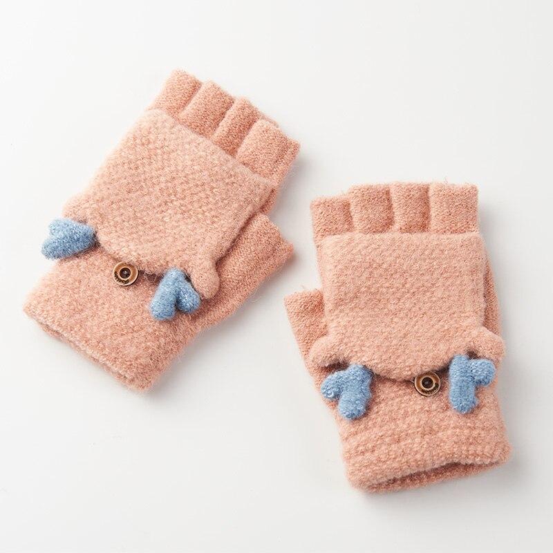 Realby Winter Gloves Women Mitten Warmer Fingerless Gloves Girl Exposed Finger Gloves Winter Ladies Mittens A3207
