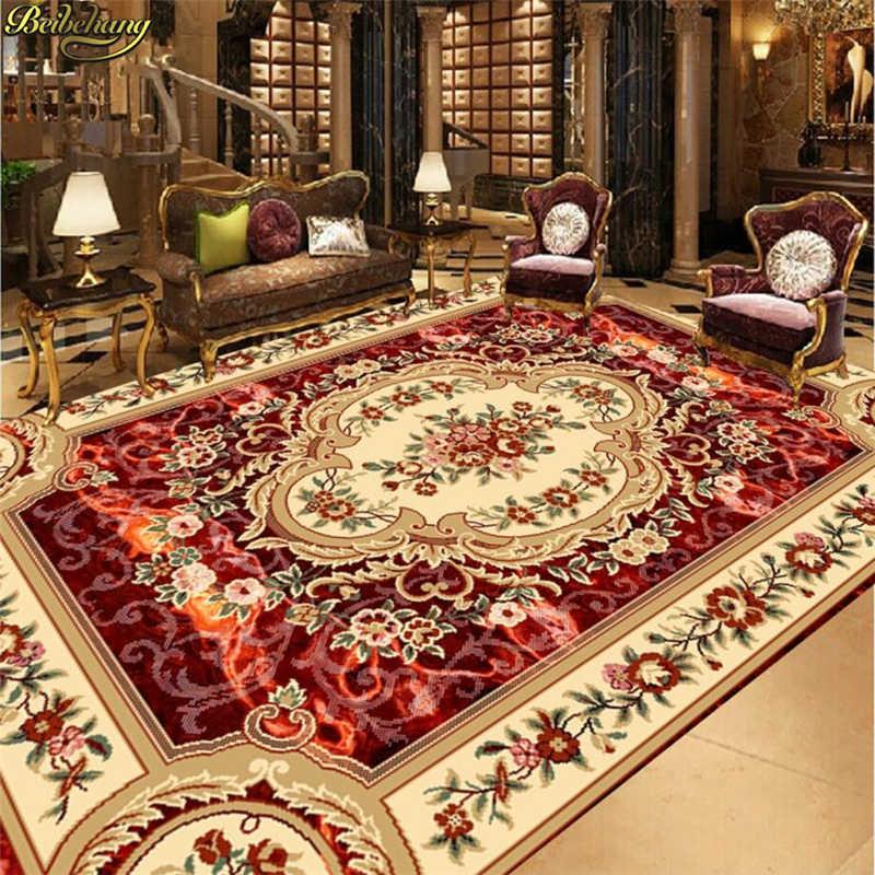 Beibehang תמונה מותאמת אישית דביק 3D רצפה אירופאי סגנון תקרת תקרת ציור רצפת ציור papel דה פארדה