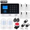 FUERS беспроводная домашняя Безопасность GSM WIFI SIM сигнализация Система IOS Android приложение дистанционное управление RFID карта PIR датчик двери сир...