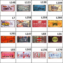 Motor Car Metal Tin sign Route 66 Plate License Plaque Poster Bar Club Wall Garage Home Decor 15x30cm