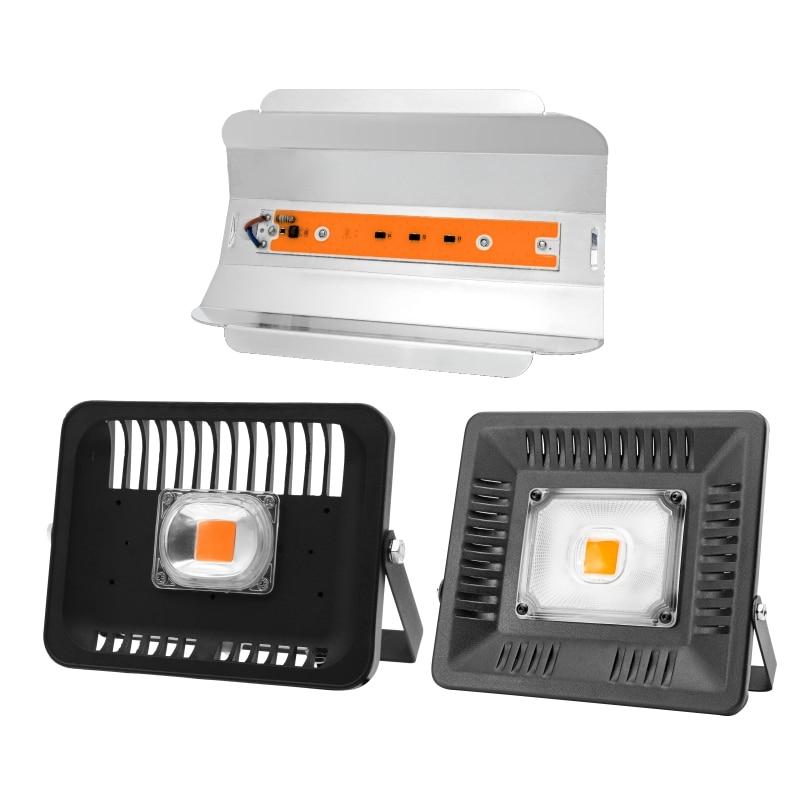 Full Spectrum Led COB Grow Flood Light 30W 50W 80W 100W AC 110V 220V Outdoor IP65 Waterproof High Power For Plant Flower Growth