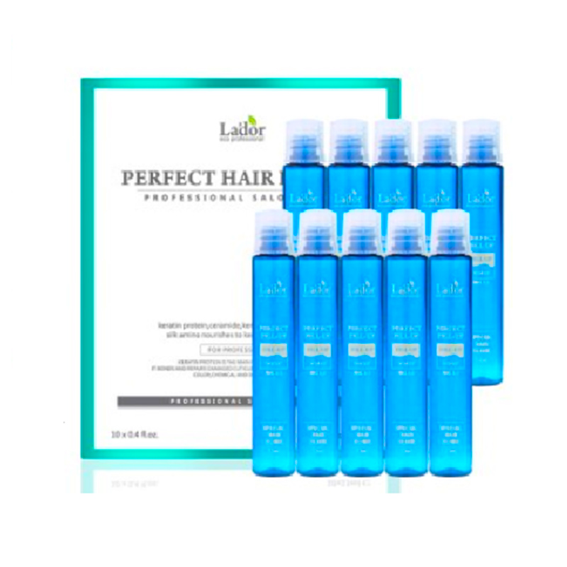 Best Korea Cosmetics LADOR Perfect Hair Fill-Up 13ml Protein Hair Ampoule Keratin Hair tre