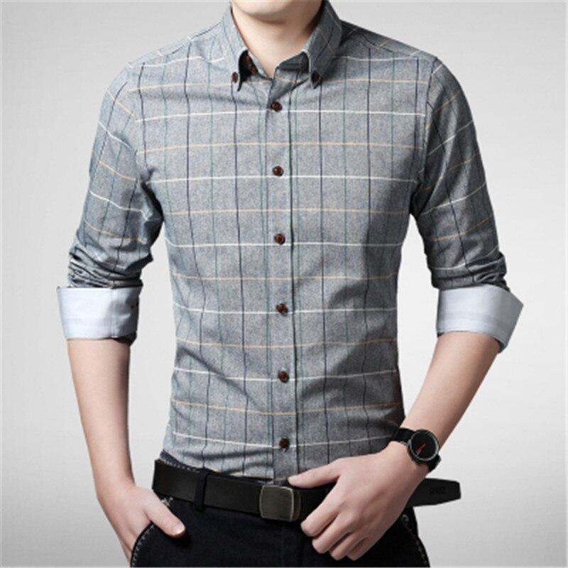 New arrival 2017 spring men shirt lattice design korean for Mens casual plaid shirts