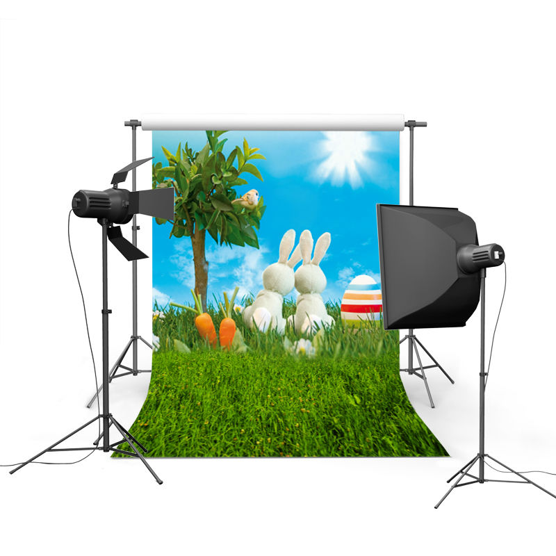 2017 new spring easter photography backdrops eggs chiken new born baby children photographic background Easter Day P0371